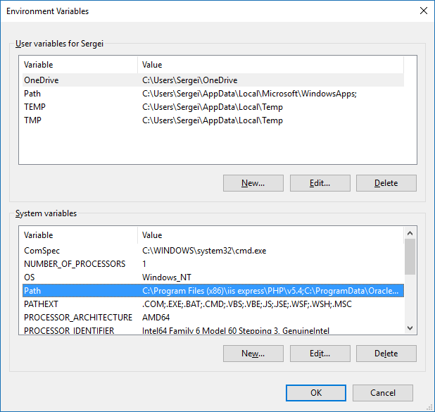 Fastest way to edit environment variables in Windows 10